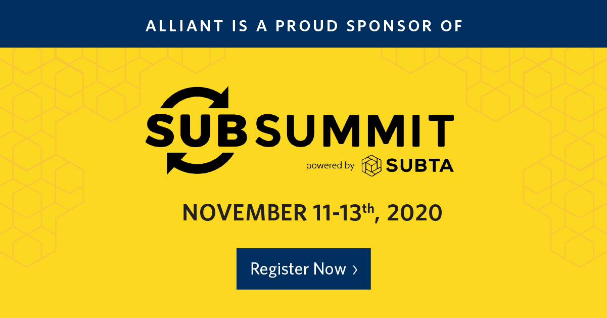Alliant is a proud sponsor of SubSummit!